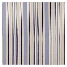 Buy John Lewis Woven Cotton Stripe Fabric, Blue Online at johnlewis.com