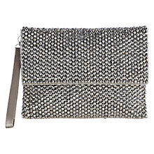 Buy Coast Felicia Clutch Handbag, Silver Online at johnlewis.com
