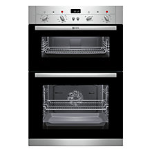 Buy Neff U12S52N3GB Double Electric Oven, Stainless Steel Online at johnlewis.com