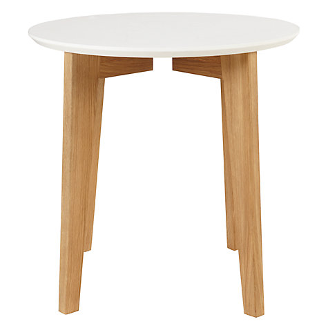 Buy House by John Lewis Abin Side Table White / Oak Online at johnlewis.com