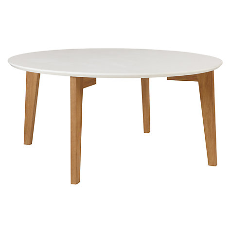 Buy house by john lewis abin coffee table white oak for Buy white coffee table