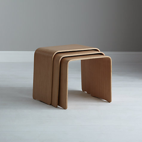 Buy House by John Lewis Bentwood Nest of 3 Tables Online at johnlewis.com