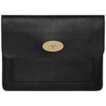 "Buy Mulberry Bayswater Laptop Sleeve, 15"", Black Online at johnlewis.com"