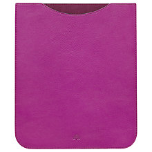 Buy Mulberry Simple Glossy Goat Leather Sleeve for iPad 2, 3rd generation iPad & iPad with Retina Display, Pink Online at johnlewis.com
