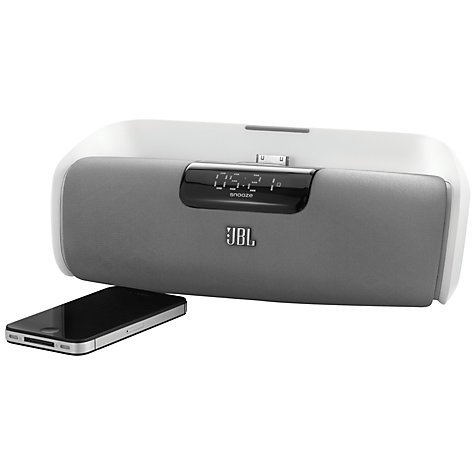 Buy JBL OnBeat aWake Wireless iPod Dock, White Online at johnlewis.com