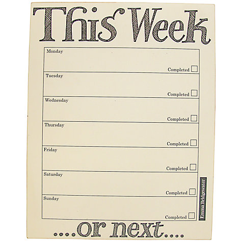 Buy Emma Bridgewater Black Toast To Do List Notepad Online at johnlewis.com