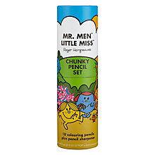 Buy Mr Men Chunky Colouring Pencils, Pack of 18 Online at johnlewis.com