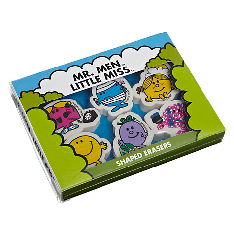 Buy Mr Men Novelty Erasers, Pack of 6 Online at johnlewis.com