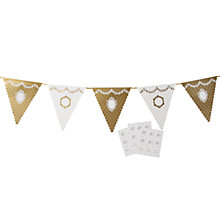 Buy Talking Table Party Porcelain Bunting, Gold, L4m Online at johnlewis.com