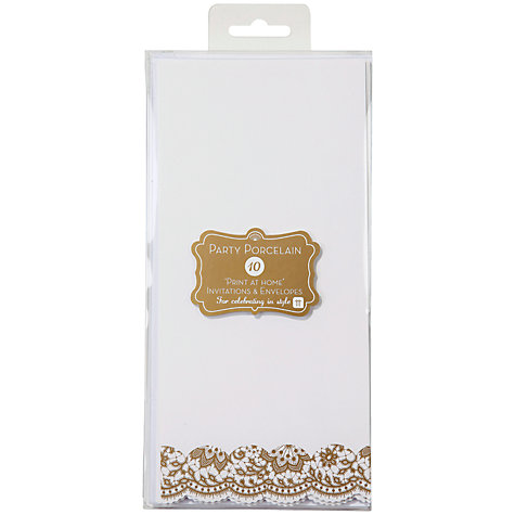 Buy Talking Table Party Porcelain Invitations, Pack of 10 Online at johnlewis.com