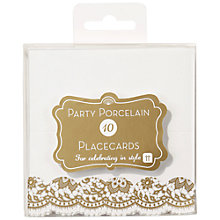 Buy Talking Table Party Porcelain Placecards, Pack of 10 Online at johnlewis.com