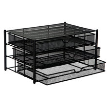 Buy Osco Mesh Three Drawer Sorter, Black Online at johnlewis.com