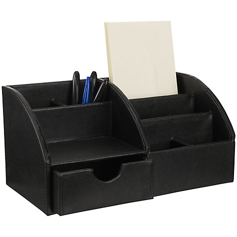 Buy Osco Desk Organiser, Black Online at johnlewis.com