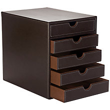 Buy Osco PU 5 Tier Faux Leather Sorter, Brown Online at johnlewis.com