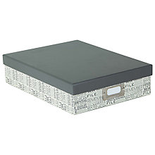 Buy John Lewis Box File, Charcoal Online at johnlewis.com