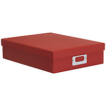 Buy John Lewis Box File, Red Online at johnlewis.com