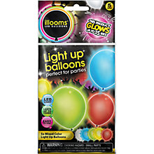 Buy LED Balloons, Multi, Pack of 5 Online at johnlewis.com