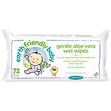 Buy Earth Friendly Baby Gentle Aloe Vera Baby Wipes, Pack of 72 Online at johnlewis.com