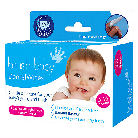 Buy Brush Baby Dental Wipes, Pack of 28 Online at johnlewis.com