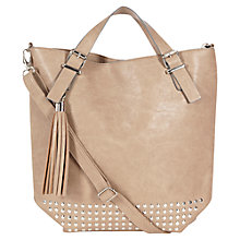 Buy Warehouse Studded Shopper, Mink Online at johnlewis.com