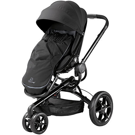 Buy Quinny Footmuff, Black Devotion Online at johnlewis.com