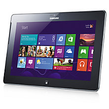 "Buy Samsung ATIV Tab Tablet, Snapdragon S4, Windows RT, 10.1"", Wi-Fi, 32GB, Silver Online at johnlewis.com"