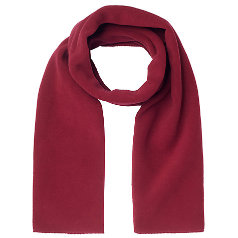Buy School Fleece Scarf, Maroon Online at johnlewis.com