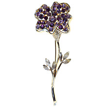 Buy Alice Joseph Vintage 1950s Coro Flower Diamanté Brooch, Purple Online at johnlewis.com