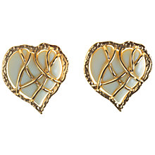 Buy Alice Joseph Vintage 1980s Marie Claire Heart Clip-On Earrings Online at johnlewis.com