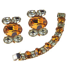 Buy Alice Joseph Vintage 1950s Coro Gilt Plated Diamante Set Online at johnlewis.com