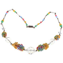 Buy Alice Joseph Vintage 1930s Moulded Glass Flowers Necklace, Multi Online at johnlewis.com