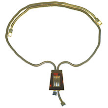 Buy Alice Joseph Vintage 1950s Trifari Faux Tortoiseshell Pendant Snakechain Necklace Online at johnlewis.com