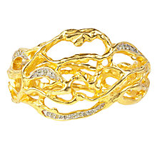 Buy Susan Caplan Vintage 1980s Elizabeth Taylor Gold Plated Precious Vine Cuff Online at johnlewis.com