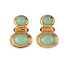 Buy Susan Caplan Vintage 1990s Elizabeth Taylor Luminous Cabochon Earrings, Gold Online at johnlewis.com