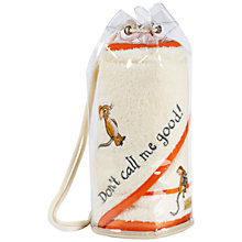 Buy Gruffalo Bathtime Cuddle Robe and Face Mitt Duffle Bag Gift Set, White Online at johnlewis.com