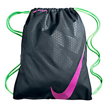 Buy Nike Mercurial Football Gym Sack, Black/Pink/Green Online at johnlewis.com