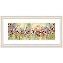Buy Catherine Stephenson - Spring Floral Panel Framed Print, 55.5 x 110.5cm Online at johnlewis.com