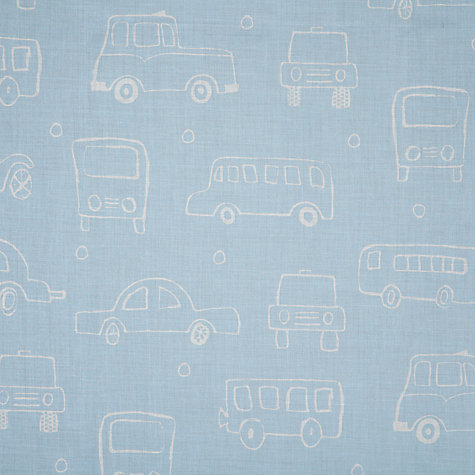Buy John Lewis Children's Bus Voile Panel, Blue Online at johnlewis.com
