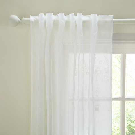 Buy John Lewis Villa Voile Panel, White Online at johnlewis.com