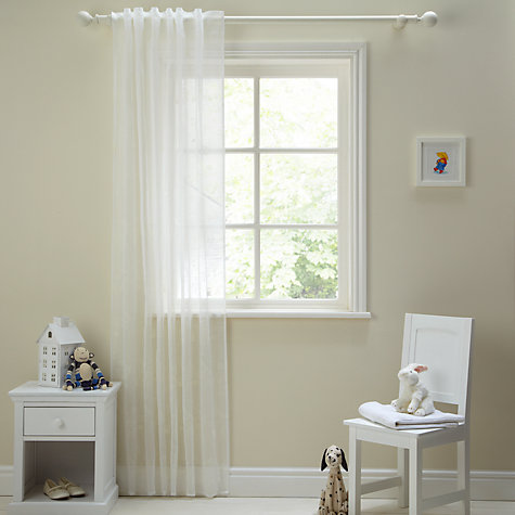Buy John Lewis Villa Voile Panel, White, W135 x Drop230cm Online at johnlewis.com