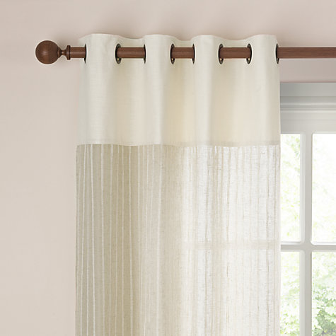 Buy John Lewis Les Calins Eyelet Voile Panel, Natural, W140 x Drop 260cm Online at johnlewis.com
