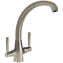 Buy John Lewis Sygnet Kitchen Tap, Brushed Steel Online at johnlewis.com