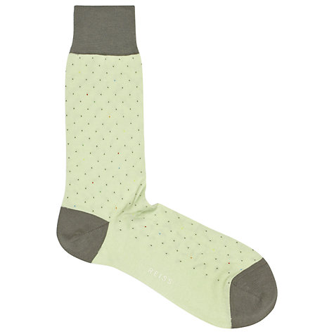 Buy Reiss Luigi Polka Dot Socks, One Size Online at johnlewis.com