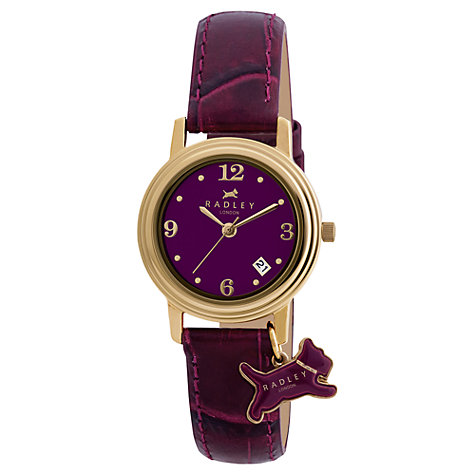 Buy Radley Women's Gold Plated Leather Strap Watch Online at johnlewis.com