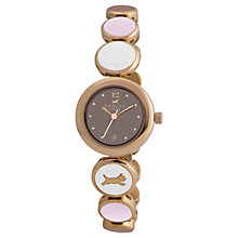 Buy Radley RY4080 Women's Stainless Steel Disc Bracelet Watch, Pink / Brown Online at johnlewis.com