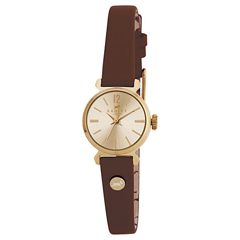 Buy Radley Women's Slim Leather Strap Round Watch Online at johnlewis.com