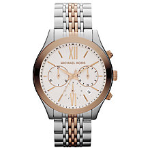 Buy Michael Kors MK5763 Women's Stainless Steel Chronograph Watch Online at johnlewis.com