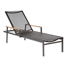 Buy Barlow Tyrie Aura Sunlounger Graphite / Charcoal Online at johnlewis.com