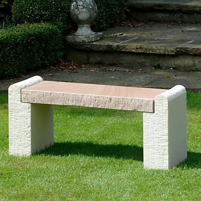 Foras Hampton Brown 2-Seat Garden Bench