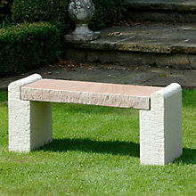 Buy Foras Hampton Brown Garden Bench Online at johnlewis.com